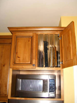 Custom Designed Microwave Cabinet by Local Cabinet Maker