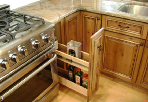 Custom Spice Drawer Cabinet by Local Cabinet Maker