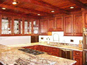 Cabinets Kitchen Glass Doors Camano